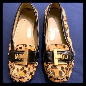 Adrienne Vittadini Moccasin Loafer Flats Leopard